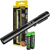 Nitecore MT06 165 Lumen Cree XQ-E LED Tactical pen-type Flashlight with two EdisonBright AAA batteries