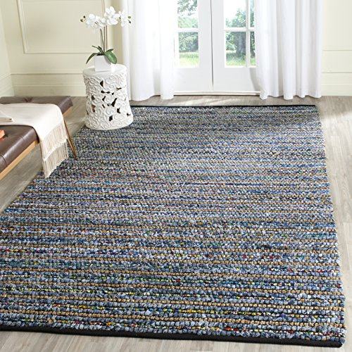 Safavieh Cape Cod Collection CAP364A Hand Woven Multi and Natural Jute and Cotton Area Rug (8' x 10')