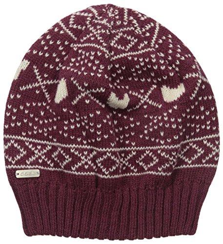 Coal Women's The Osa Nordic Hat, Burgundy, One Size