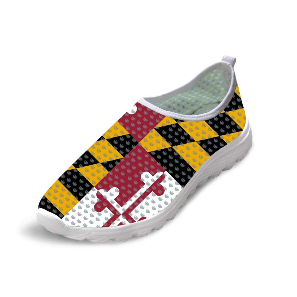 Owaheson Trail Runner Running Shoe Casual Sneakers Maryland Flag