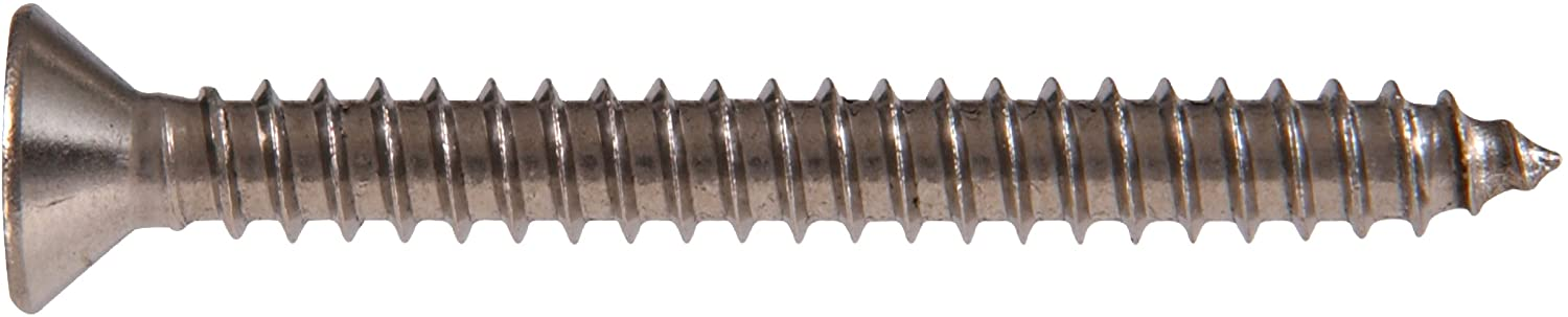 8 x 1-1//2-Inch The Hillman Group 490748 Stainless Steel Flat Head Phillips Sheet Metal Screw 2-Pack