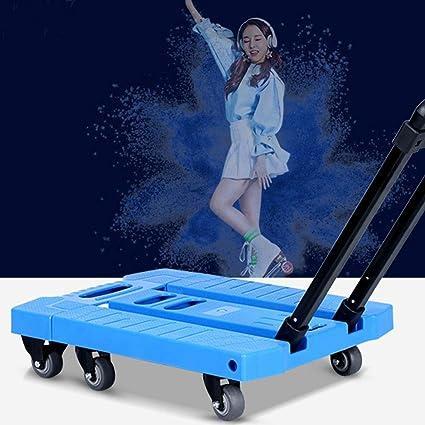 cb54e40a79bf Amazon.com: SHIJIAN Foldable Trolley 6 Wheels Hand Trolley ...