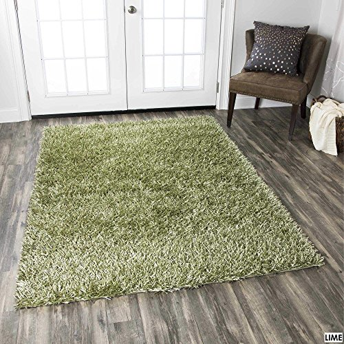 Rizzy Home Kempton Collection KM2319 Hand-Tufted Shag Area Rug 9' x 12' Gold (Shag Gold Round Rug)