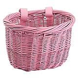 Sunlite Mini Willow Bushel Basket - Pink
