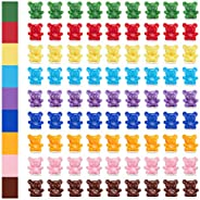 XINHUEIDA Colored Counting Bears 90 Color Classification Bears ( 10 Pink, 10 Dark Brown, 10 Blue, 10 Dark Blue
