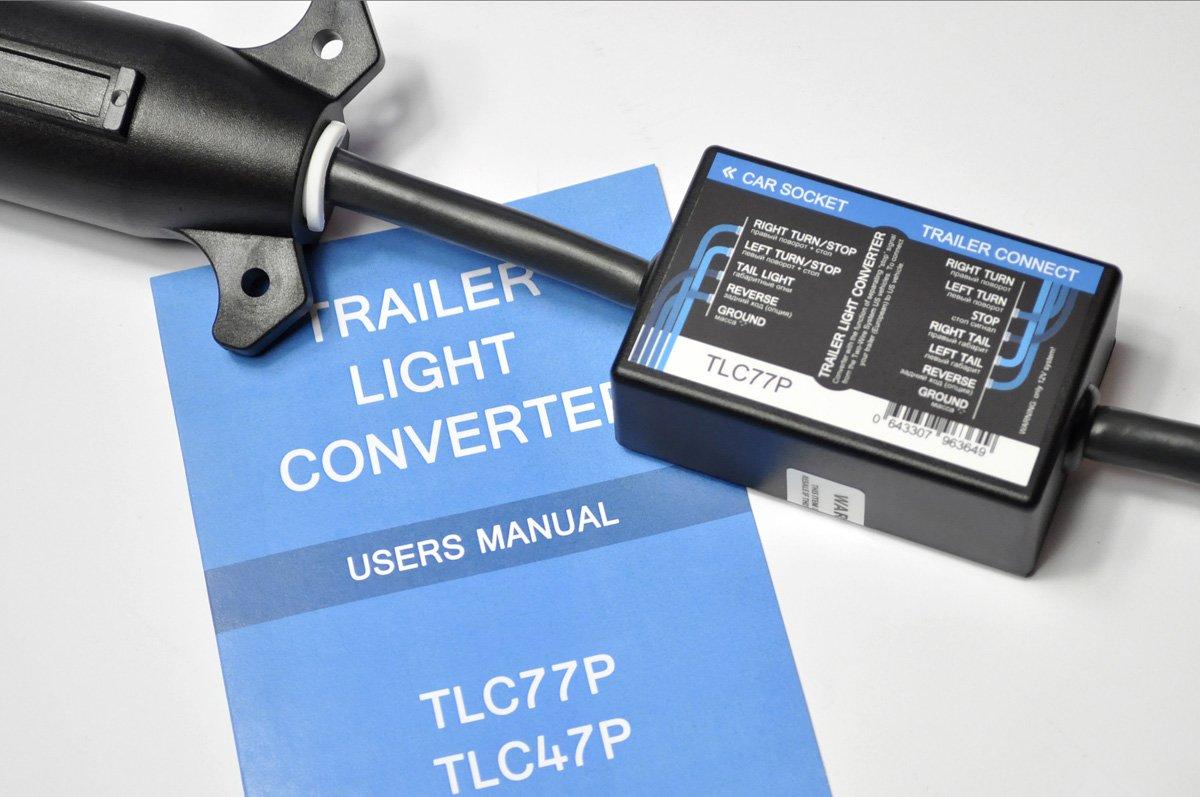 Adapter für Anhänger-Beleuchtung, USA zu EU, 7-Pin ...