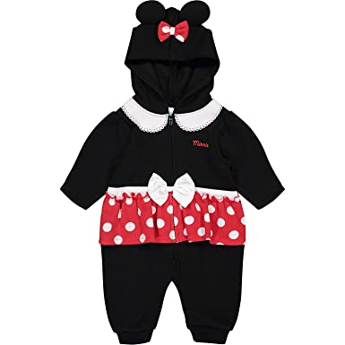a777dead8 Amazon.com  Disney Minnie Mouse Baby Girls  Fleece Zip-Up Costume ...