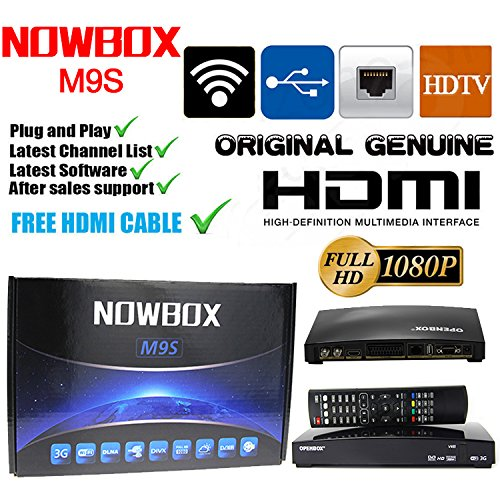 OVERBOX M9S Freesat Digital Satellite TV Receiver + Digital TV Set Top Box  + Freeview HD 1080p TV Recorder + Built in WiFi + Video/Music Player Via