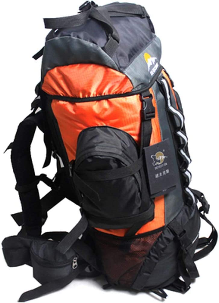 XJRHB Mountaineering Bag Men and Women Outdoor Backpack New Travel Bag Large Capacity Hiking Camping 60L