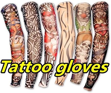 Aikesi 6 Unidades Novedad Falso Tatuaje Temporal Armas Piernas ...