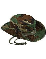 Leisial UV Esterno Cappello da Sole Sport a Bordo Rotondo per Adulti  Campeggio nella Giungla Cappello 6d77fe35cc23