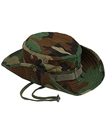 Emorias 1 Pcs Sombrero de Pescador Camuflaje Gorra al Aire Libre Hombre  Protector Solar Gorro Camping 8f5bac1f9c7a