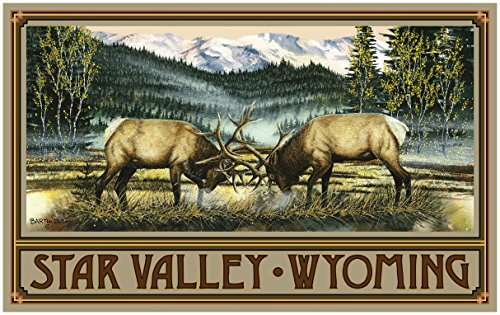 Star Valley Wyoming Elk Travel Art Print Poster by Dave Bartholet (30