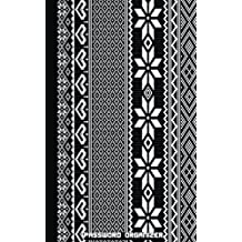 Password Organizer : (Black and White Pixel Cover), An Internet Address and Password Journal, 5 by 8, With 300 Password Reminder: Password Book And Organizer Journal