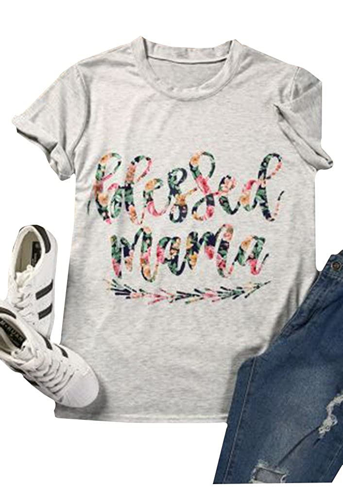 cb15af92 O-Neck Short Sleeve T Shirt Mother's Day Mama Tshirt Tops,Makes a Great Gift  for ...
