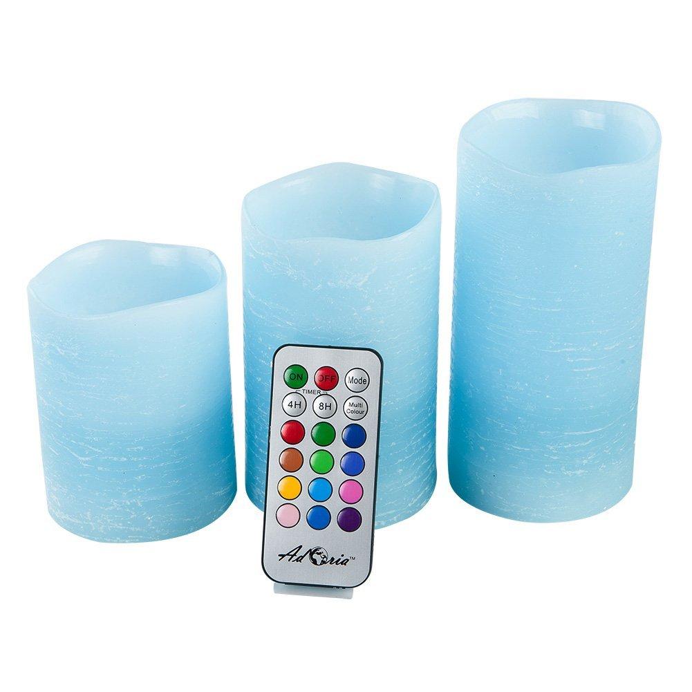 リモートコントロールカラーChanging Candle Light ブルー B0787HNQ9B 14074  ブルー