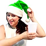 Santa Hat Flask (Green)