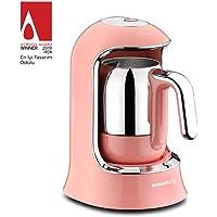 Korkmaz Kahvekolik Pembe Otomatik Kahve Makinesi A860