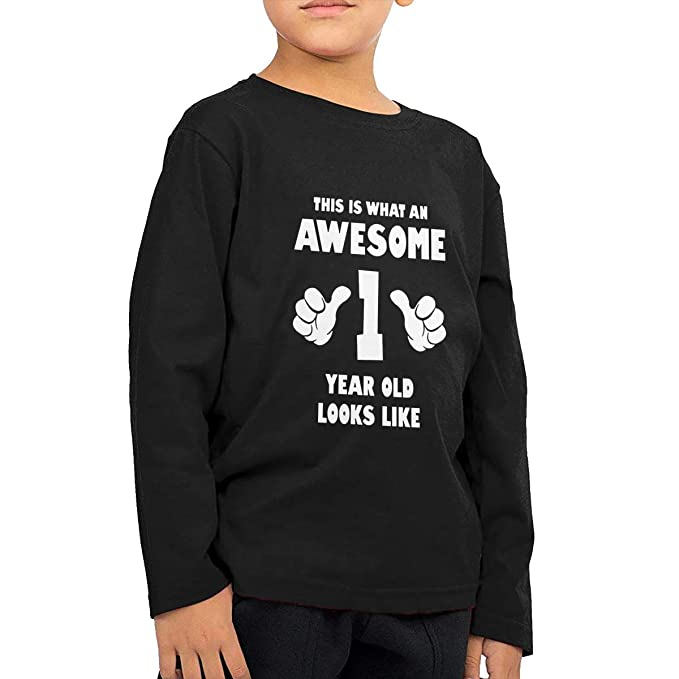 Amazon Baby Boys Birthday Boy 1 Year Old Toddler Kids Girls T Shirt Long Sleeve Crew Neck Shirts Soft Tee Clothing