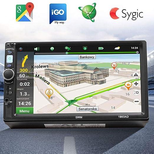 Lvreby Universal Coche GPS navegación 7 Pulgadas HD Coche ...