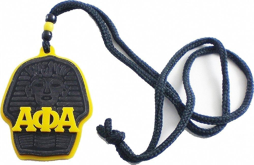 Cultural Exchange Alpha Phi Alpha Sphinx Head Symbol Medallion Gold//Black - 3x2.5