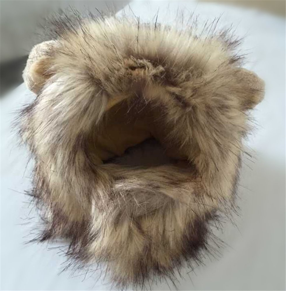 Dog Lion Mane Wigs Costume Cosplay Hair Party Fancy Dress Pet Cat Toy by ISHOWStore (Image #5)