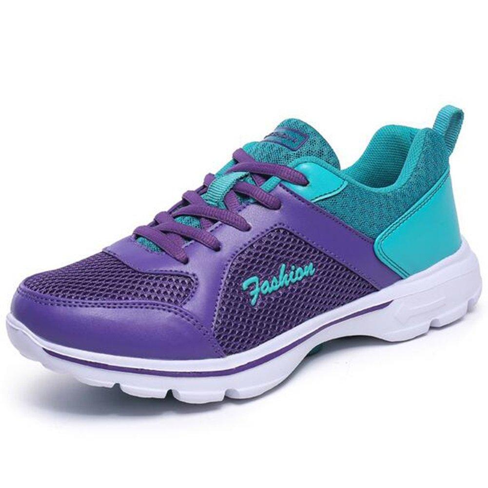 Zapatos casuales de las mujeres Zapatillas, Zapatos deportivos de malla Zapatos de correr ligeros y respirables Zapatos de mujer Zapatos deportivos de viaje Zapatillas de exterior ( Color : Púrpura , tamaño : 39 ) 39|Púrpura