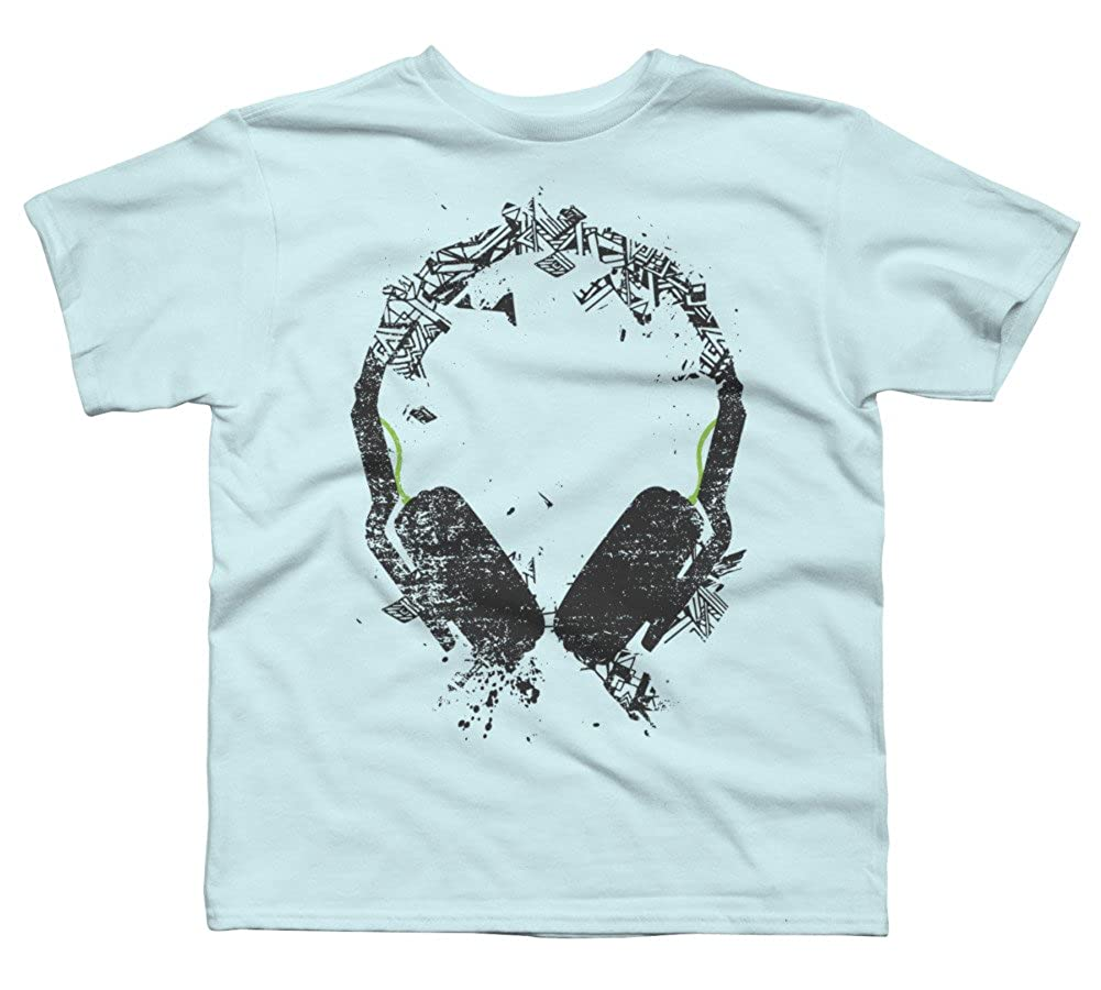Design By Humans Art Headphones V2 Boys Youth Graphic T Shirt