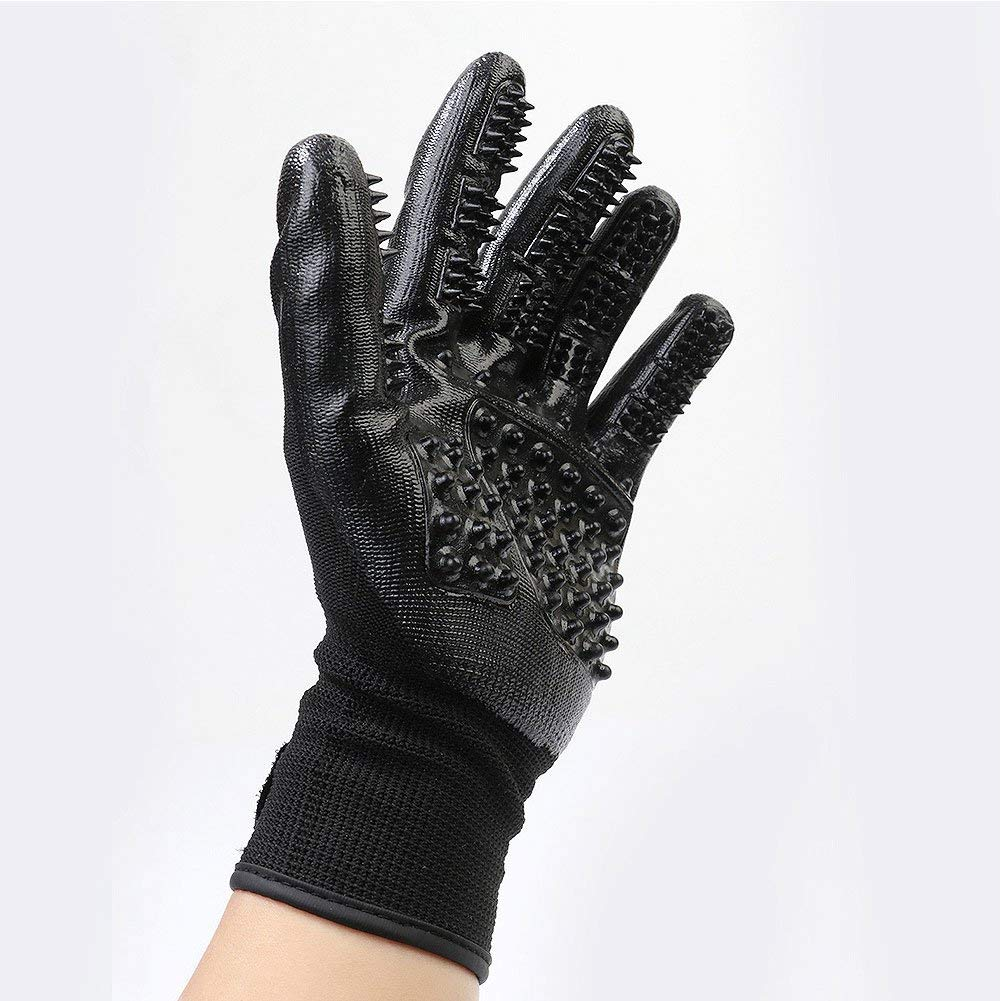 Borijiche Pet Gloves Bath Massage Multi-Purpose Dog Dog Hummer Gloves (Color : -, Size : -)