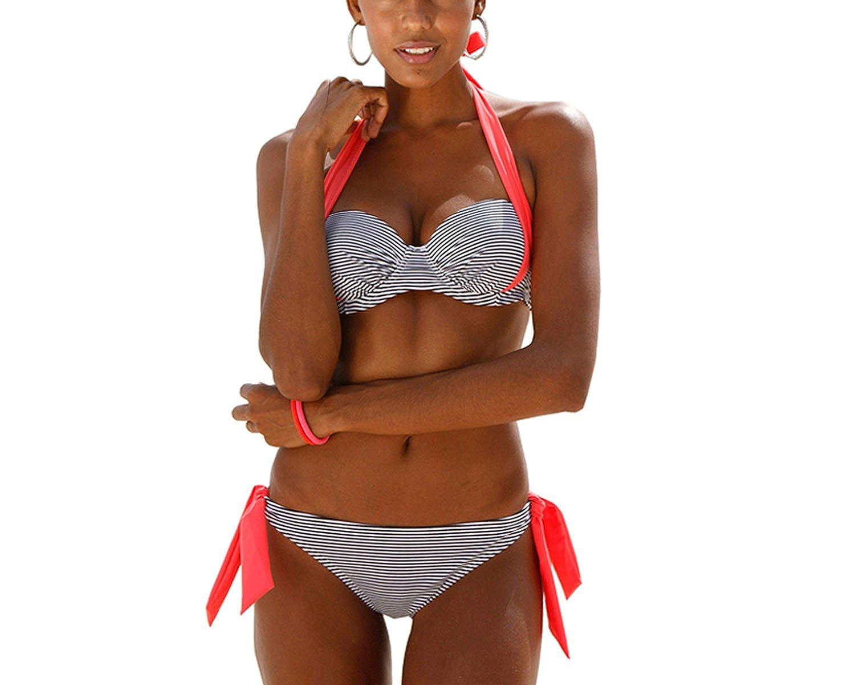 f76819e2ebd8e Amazon.com: Trendy-Nicer Sexy Bikinis Women SwimwearHalter Top Plus Size  Beachwear Bikini Swimsuits 2XL: Clothing