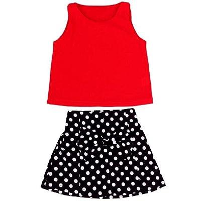 kaifongfu Children Skirt, Girls Vest Pleated Dress Two Pieces Set Clothes Children Skirt Suit