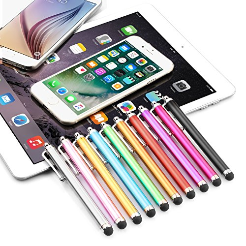 Stylus Pen LIBERRWAY 10 Pack of Pink Purple Black Green Silver Stylus Universal Touch Screen Capacitive Stylus for Kindle Touch ipad iphone 6/6s 6Plus 6s Plus Samsung S5 S6 S7 Edge S8 Plus Note