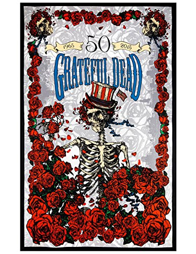 Sunshine Joy Grateful Dead 50th Anniversary Bertha 3D Tapestry Tablecloth Wall Art Beach Sheet Huge 60x90 Inches - Amazing 3D Effects (Hanging Shop Tapestry Wall)