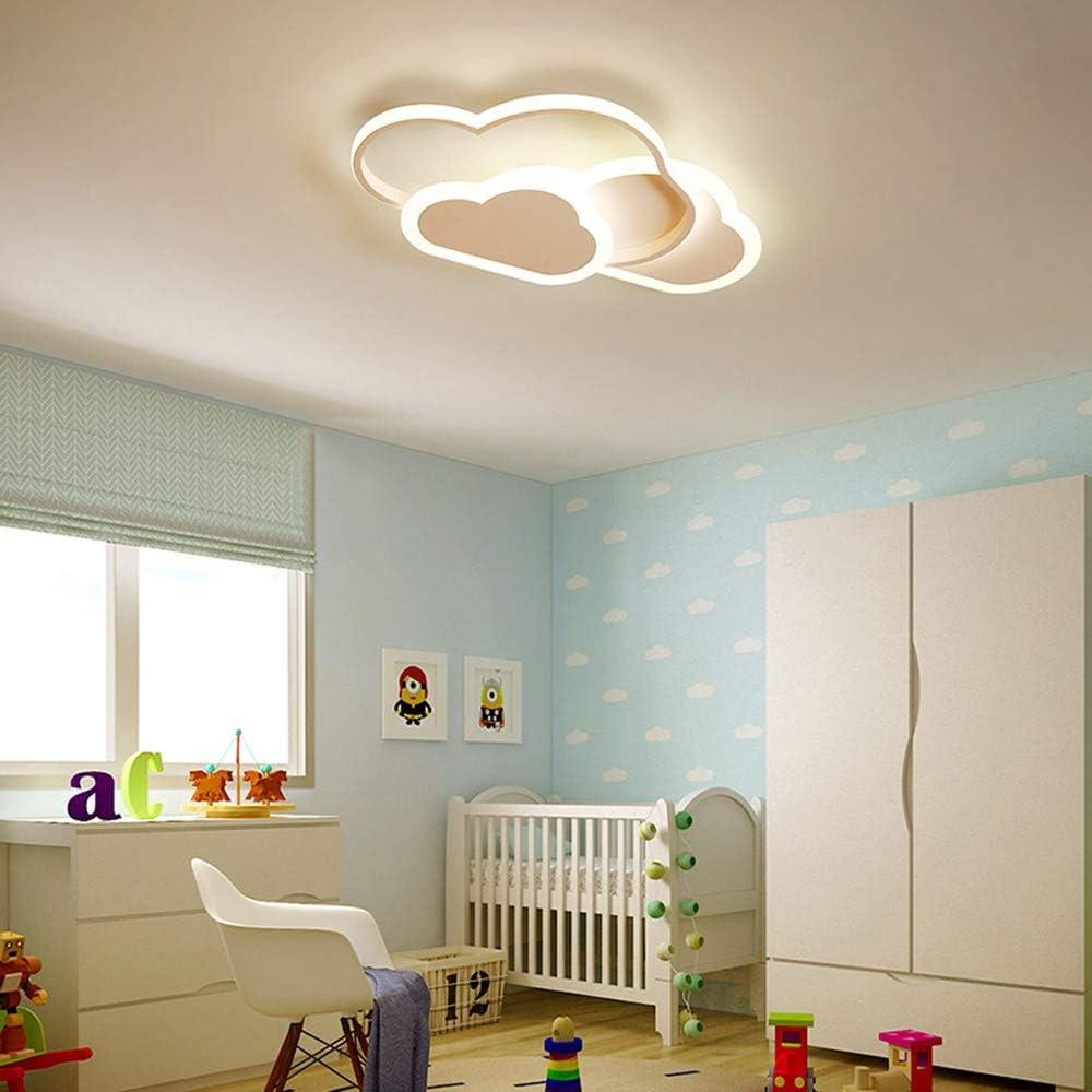 Mit Fernbedienung Dimmbare 6cm Ultrad/ünne Wei/ße Und Rosa Decken Lampe LED Deckenleuchte for Kinderzimmer Kinderzimmer Schlafzimmer Wohnzimmer Dekoration Beleuchtung Creative Cloud Deckenleuchte