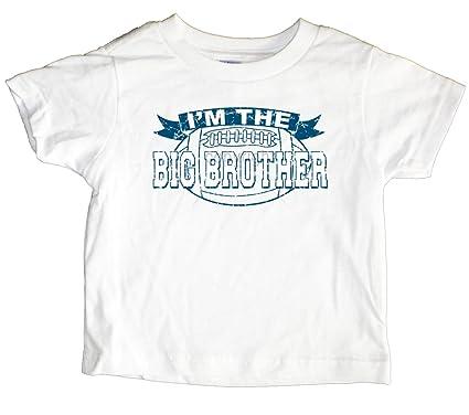 a219bfdc Amazon.com: U.S. Custom Kids Big Brother Football Toddler T-Shirt ...