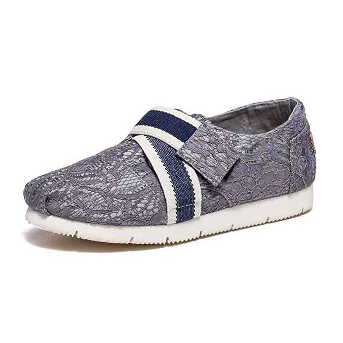 Sandales Zapatos Verano Transpirable De Encaje Lona Sra rArZqxI