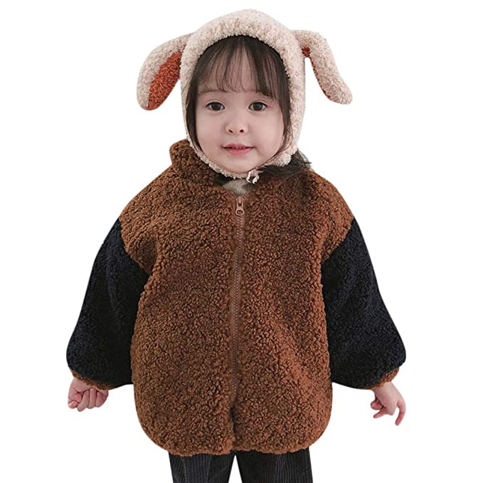 1081c236c0a1 Amazon.com  Toddler Baby Girls Boys Thicken Jacket Kids Fall Winter ...