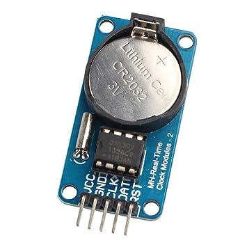 Aotejia RTC DS1302 Módulo de reloj en tiempo real para Arduino AVR ARM PIC SMD: Amazon.es: Electrónica