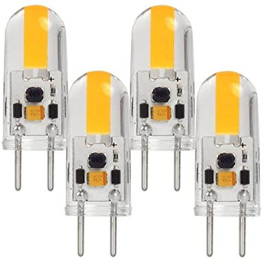 MENGS® 4 Stück GY6.35 COB LED Lampe 3W AC/DC 12V Warmweiß 3000K Mit Silikon Mantel