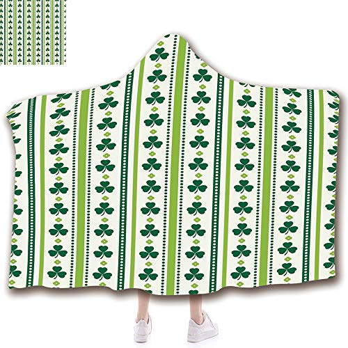 Fashion Blanket Ancient China Decorations Blanket Wearable Hooded Blanket,Unisex Swaddle Blankets for Babies Newborn by,Dots Irish Traditional Floral Pattern,Lime Green,Adult Style Children Style ()