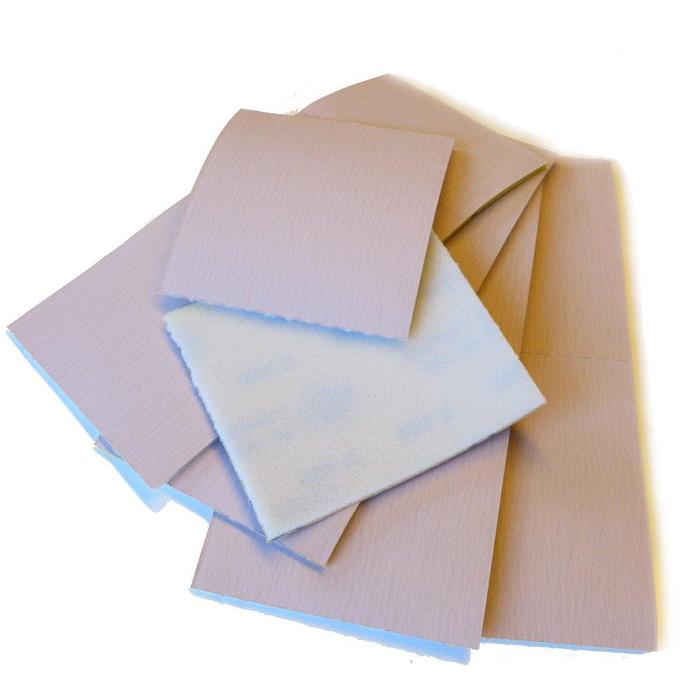 10 x Schleifpads Schleifschwä mme 12, 5x11, 5 cm | Korn 400 | fein | einseitig kaschiert mit Schaumstoff | 10er-Pack Unbekannt