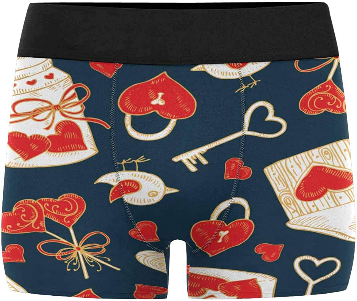 INTERESTPRINT Custom Water and Fire Saxophone Boxer Brief Underwear for Mens Juniors Youth Boys XS-3XL