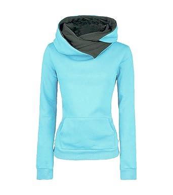 Sweatshirt Hoodie Damen Kapuzenpullover Pullover Hoodies Pullis Shirt  Langarm Sweater Oberteile Sweat Pullover Mit Kapuze Tops Kapuzenshirt  Frauen Coole ... 5fd495c00f