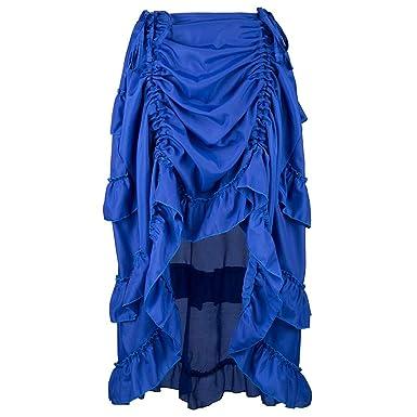 Lenfesh Faldas Maxi Pliegues Plisada Vintage Elástica Faldas ...