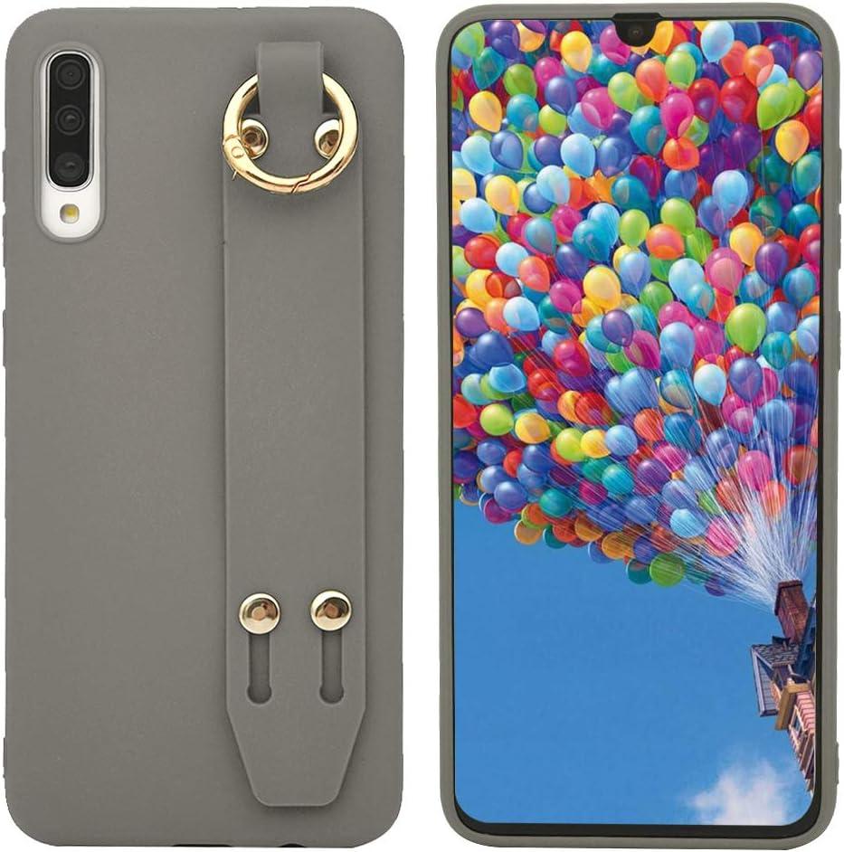 Rose Nue LaVibe Coque pour Samsung Galaxy A70 Couleur Unie /Étui Peint Gel Silicone TPU Protecteur Housse avec Collier Anti-Rayures Pare-Chocs Bumper Souple Flexible Etanche Soft Case