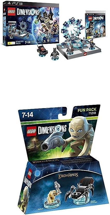 LEGO - Starter Pack Dimensions (PS3) + LEGO Dimensions - Figura El Señor De Los Anillos, Gollum: Amazon.es: Videojuegos
