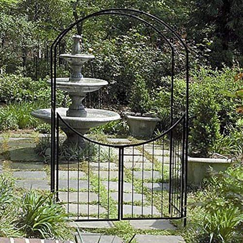 Garden Arch And Gate - Gardman Savannah 8-ft. Steel Arch Arbor with Gate by World Source Partners LLC