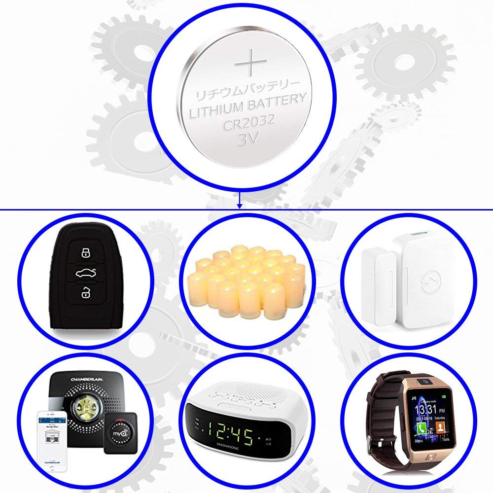 Electronic Coin Cell Button for Toys Calculators Watches 40 Pcs JOOBEF CR2032 Lithium 3V Battery