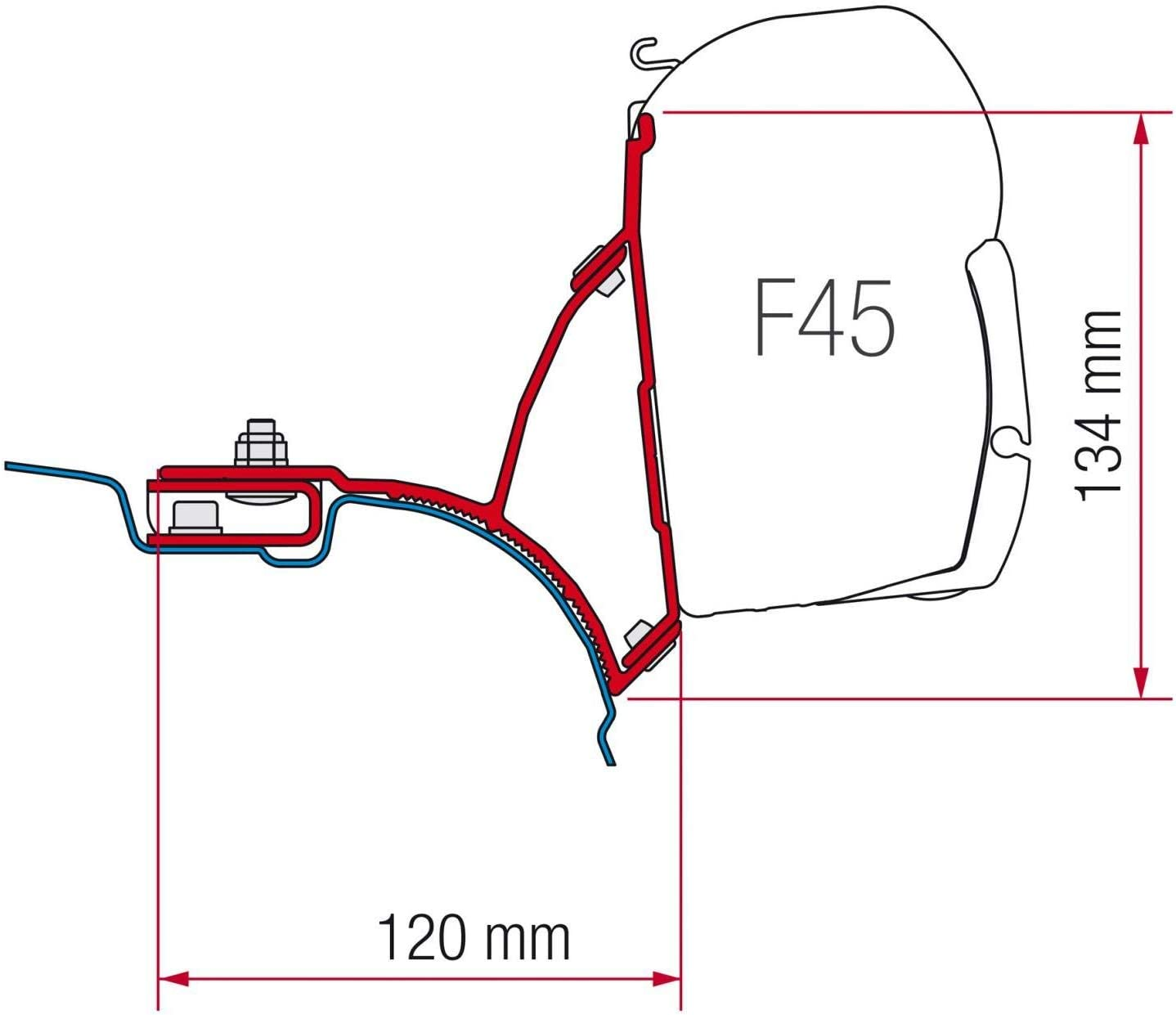 Fiamma Adaptor VW T5 Transporter Multivan EU