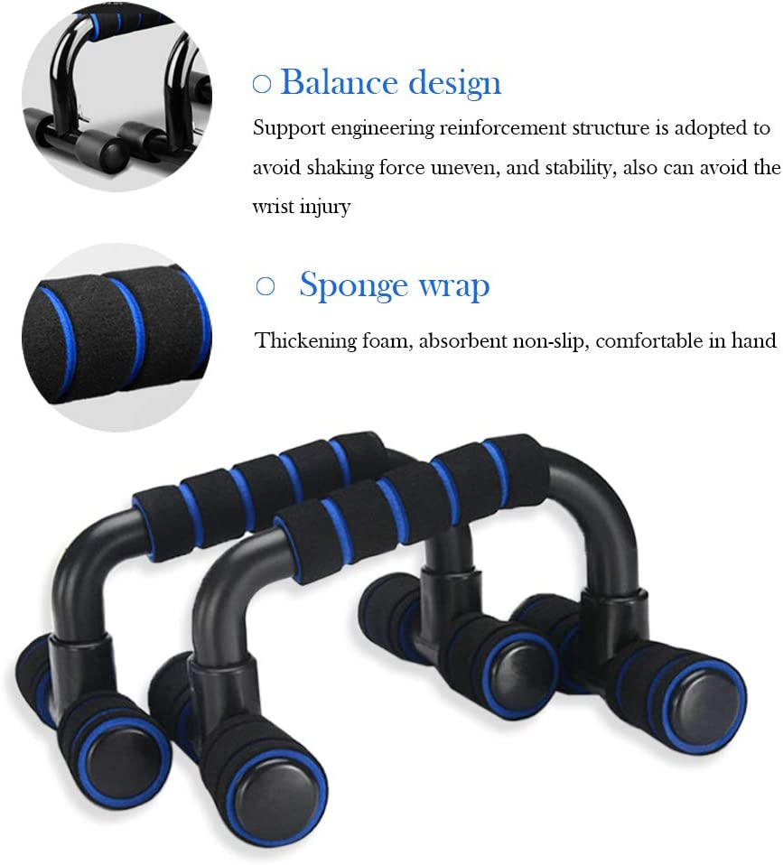 Puimentiua Push Up Bars Strength Training Floor Workouts Workout Stands with Ergonomic Push-up Bracket Board with Non-Slip Sturdy Structure Portable for Home Fitness Training